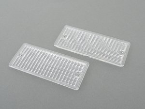 ES#3024337 - E30EARLYCLEAR - Clear Front Turn Signal Covers (pair) - Replace your cracked or fogged turn signal covers. - Turner Motorsport - BMW
