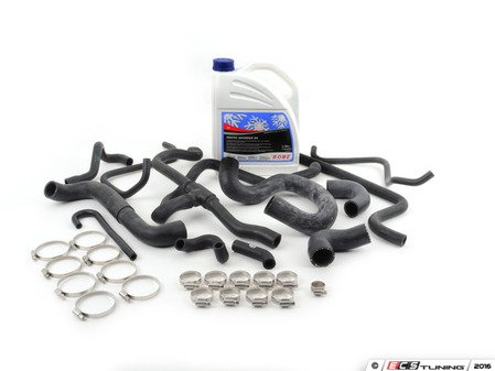 ES#2863453 - 13541719967KT - Ultimate Hose Kit - Includes all coolant & heater hoses with new hose clamps - plus coolant! - Assembled By ECS - BMW