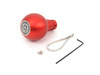 ES#3022027 - GS1R - BFI Heavy Weight Shift Knob RED - Full Billet  - Weighing in at approximately 250 grams the added inertial mass makes shifting effort substantially less while speeding up the process at the same time. - Black Forest Industries - Audi Volkswagen