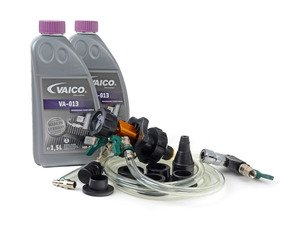 ES#3063385 - G013A8JM1KT - Coolant Flush Kit - Includes Schwaben coolant refill/air purge tool and 3 liters of G13 coolant. - Assembled By ECS - Audi Volkswagen