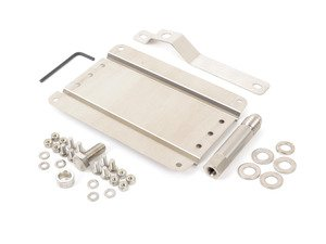 ES#3046056 - 0002SVW7 - No Holes License Plate Bracket Kit - Avoid drilling holes in your bumper by utilizing a tow hook mounted plate bracket - GMG Motorsports - Volkswagen