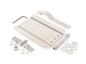 ES#3089105 - 0002S-AU2-100 - No Holes License Plate Bracket Kit - Avoid drilling holes in your bumper by utilizing a tow hook mounted plate bracket - GMG Motorsports - Audi