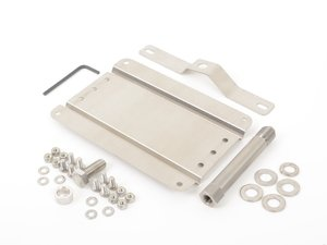 ES#3046034 - 0002SVW1100 - No Holes License Plate Bracket Kit - Avoid drilling holes in your bumper by utilizing a tow hook mounted plate bracket - GMG Motorsports - Volkswagen