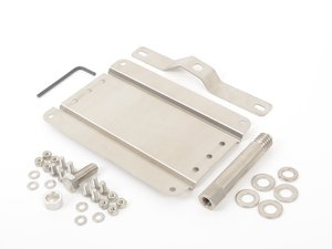 ES#3046038 - 0002SVW290 - No Holes License Plate Bracket Kit - Avoid drilling holes in your bumper by utilizing a tow hook mounted plate bracket - GMG Motorsports - Volkswagen