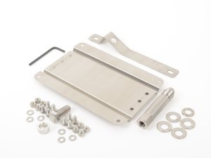 ES#3046057 - 0002SVW7R - No Holes License Plate Bracket Kit - Avoid drilling holes in your bumper by utilizing a tow hook mounted plate bracket - GMG Motorsports - Volkswagen