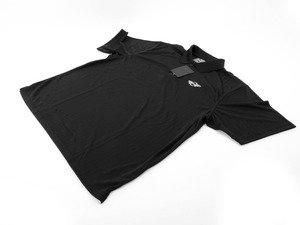 ES#2504061 - 80902296868 - MINI Mens Recycled Polo - Black - XLarge - Button down polo with MINI logo crest on chest - Genuine MINI - MINI
