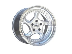 "ES#3085002 - ESM-011R-5KT - 18"" Style 011R Wheels - Set Of Four - 18""x9.5"" ET38 57.1CB 5x100 Silver with Polished Lip - ESM Wheels - Volkswagen"