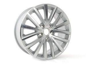 "ES#2609527 - 5C0601025AH8Z8 - 17"" Queensland Wheel - Priced Each - 17x7, ET54, 5x112 - Diamond Silver - Genuine Volkswagen Audi - Volkswagen"