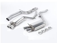 """ES#2827332 - SSXAU190 - Cat-Back Exhaust System - Non-Resonated - 2.36"""" stainless steel with quad GT 80mm polished tips - Milltek Sport - Audi"""