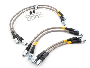 ES#3024291 - PLBE9X335XI - Stainless Steel Brake Line Set  - Designed to create a quicker, firmer, more consistent pedal response - DOT compliant - StopTech - BMW