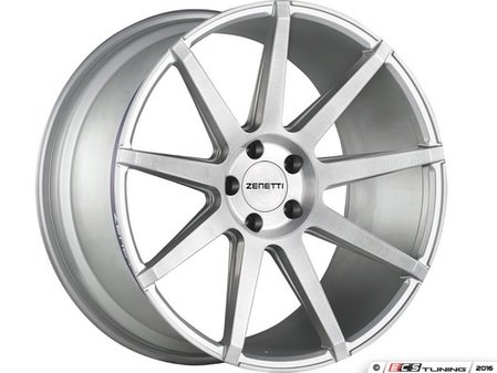 "ES#3072921 - ESQ2205SV53045kt - 22"" Esquire Style Wheels - Set Of Four - 22""x10.5"" ET45 71.6CB 5x130 Brushed Silver - Zenetti - Audi Volkswagen"
