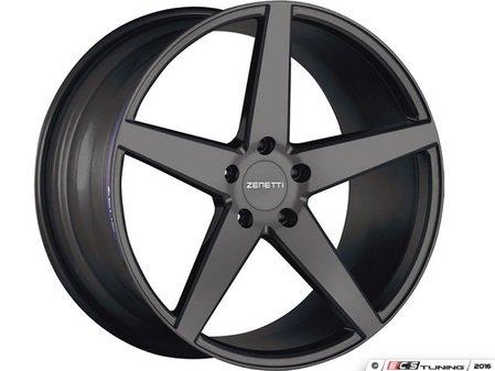 "ES#3072907 - BAR2205BL53045kt - 22"" Baron Style Wheels - Set Of Four - 22""x10.5"" ET45 71.6CB 5x130 Satin Black - Zenetti - Audi Volkswagen"