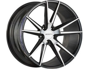 "ES#3072649 - VEN2005MB51230kt - 20"" Venice Style Wheels - Set Of Four - 20""x10.5"" ET30 66.6CB 5x112 Black/Machined - Zenetti - Audi"