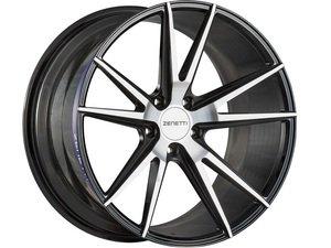 "ES#3072640 - VEN2290MB51235kt - 22"" Venice Style Wheels - Set Of Four - 22""x9"" ET35 66.6CB 5x112 Black/Machined - Zenetti - Audi"