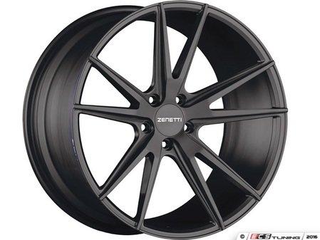 "ES#3072648 - VEN2005BL51230kt - 20"" Venice Style Wheels - Set Of Four - 20""x10.5"" ET30 66.6CB 5x112 Satin Black - Zenetti - Audi"