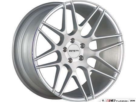"ES#3072680 - MIL2290SV51235kt - 22"" Milan Style Wheels - Set Of Four - 22""x9"" ET35 66.6CB 5x112 Brushed Silver - Zenetti - Audi"