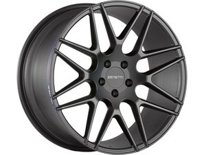 "ES#3072674 - MIL2205BL51240kt - 22"" Milan Style Wheels - Set Of Four - 22""x10.5"" ET40 66.6CB 5x112 Satin Black - Zenetti - Audi"