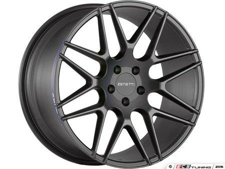 "ES#3072674 - MIL2205BL51240kt - 22"" Milan Style Wheels - Set Of Four - 22""x10.5"" ET40 66.6CB 5x112 Satin Black - Zenetti - Audi"