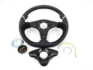 ES#3027172 - NER35BK0B - MOMO Nero Steering Wheel - Black - 350mm - Customize your driving experience with this fine leather steering wheel - MOMO - Audi BMW Volkswagen Mercedes Benz MINI Porsche
