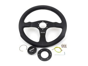 ES#3025845 - COM35BK0B - MOMO Competition Steering Wheel - 350mm - Customize your driving experience with this fine leather steering wheel - MOMO - Audi BMW Volkswagen Mercedes Benz MINI Porsche