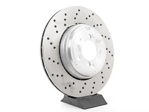 ES#2733951 - 34212284812 - Rear Brake Rotor - right - Vented and drilled to dissipate heat efficiently. - Genuine BMW - BMW