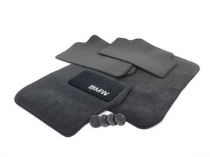 ES#2498818 - 82112293527 - Carpeted floor mat - set  - Black - Genuine BMW - BMW