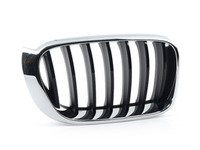 ES#2921462 - 51117338572 - Kidney Grille - Right - Chrome with gloss black slots. - Genuine BMW - BMW