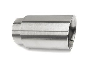 "ES#3508476 - EX-91-52WBR - 3.0"" Weld On Exhaust Tip - Brushed  - Stainless Steel exhaust tip featuring weld on attachment. 2.5"" Inlet / 3"" Double Wall, Slant Cut Outlet - 42 Draft Designs - Audi BMW Volkswagen"
