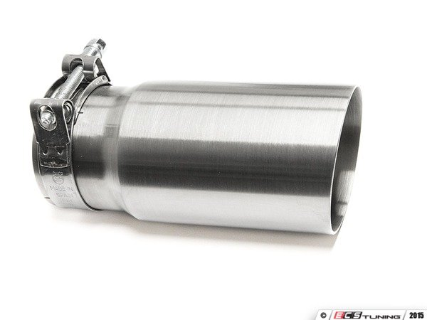 "ES#3508466 - EX-91-51CBR - 3.0"" Clamp On Exhaust Tip - Brushed - Stainless Steel exhaust tip featuring clamp on attachment. 2.5"" Inlet / 3"" Signle Wall, Slant Cut Outlet - 42 Draft Designs - Audi BMW Volkswagen"