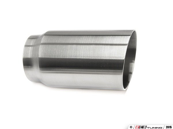 "ES#3508470 - EX-91-51WBR - 3.0"" Weld On Exhaust Tip - Brushed  - Stainless Steel exhaust tip featuring weld on attachment. 2.5"" Inlet / 3"" Single Wall, Slant Cut Outlet - 42 Draft Designs - Audi BMW Volkswagen"