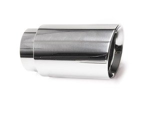 "ES#3508477 - EX-91-52WPL - 3.0"" Weld On Exhaust Tip - Polished  - Stainless Steel exhaust tip featuring weld on attachment. 2.5"" Inlet / 3"" Double Wall, Slant Cut Outlet - 42 Draft Designs - Audi BMW Volkswagen"