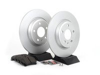 ES#2594264 - 8K0615601BKT1 -  Rear Brake Service Kit - Featuring Meyle rotors and Vaico semi metallic pads - Assembled By ECS - Audi