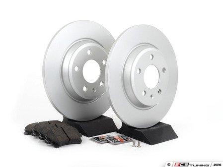 ES#2594264 - 8K0615601BKT1 -  Rear Brake Service Kit - Featuring Meyle rotors and Vaico semi metallic pads - Assembled By ECS - Audi