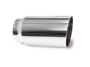 "ES#3508471 - EX-91-51WPL - 3.0"" Weld-On Exhaust Tip - Polished  - Stainless Steel exhaust tip featuring weld on attachment. 2.5"" Inlet / 3"" single Wall, Slant Cut Outlet - 42 Draft Designs - Audi BMW Volkswagen"
