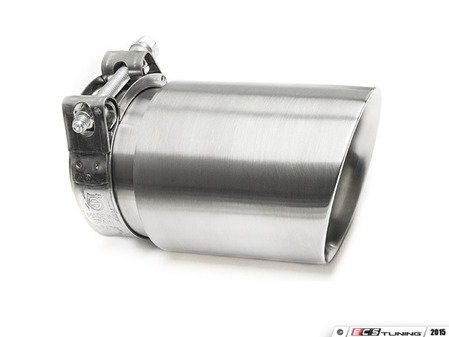"ES#3508472 - EX-91-52CBR - 3.0"" Clamp On Exhaust Tip - Brushed  - Stainless Steel exhaust tip featuring clamp on attachment. 2.5"" Inlet / 3"" Double Wall, Slant Cut Outlet - 42 Draft Designs - Audi BMW Volkswagen"