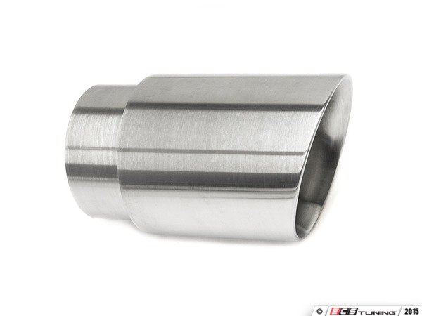 "ES#3508500 - EX-91-72WBR - 3.5"" Clamp On Exhaust Tip - Brushed - Stainless Steel exhaust tip featuring weld on attachment. 3"" Inlet / 3.5"" Double Wall, Slant Cut Outlet - 42 Draft Designs - Audi BMW Volkswagen"