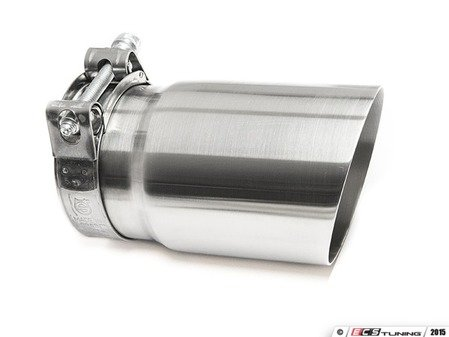 "ES#3508490 - EX-91-71CBR - 3.5"" Clamp On Exhaust Tip - Brushed - Stainless Steel exhaust tip featuring clamp on attachment. 3"" Inlet / 3.5"" Signle Wall, Slant Cut Outlet - 42 Draft Designs - Audi BMW Volkswagen"