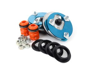 ES#3024540 - 192416L2 - K-MAC Stage 2 Street/Track - Front Adjustable Camber/Caster Plates  - Features a poly bushing to maintain comfort and fast street to track adjustments - KMAC - BMW