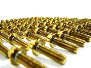 ES#9800 - BBSRMGLDBOLT - BBS RM Wheel Bolts- Gold (24mm) - Gold finish, complete set for 4 wheels (110pieces) - ECS - BMW Volkswagen