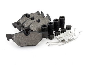 ES#3036243 - 104.12670 - Posi Quiet Semi-Metallic Brake Pads - Rear - Simplify your life by eliminating brake dust and increasing stopping power - Centric - BMW