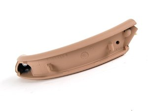 ES#102701 - 51418265080 - Front Door Handle - Right - Hellbeige/light beige. Located on the front right interior door panel. - Genuine BMW - BMW
