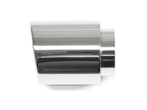 """ES#3079134 - 5593777 - 4.0"""" Weld On Exhaust Tip - Polished - Stainless Steel exhaust tip featuring weld on attachment. 3"""" Inlet / 4"""" Double Wall, Slant Cut Outlet - 42 Draft Designs - Volkswagen"""