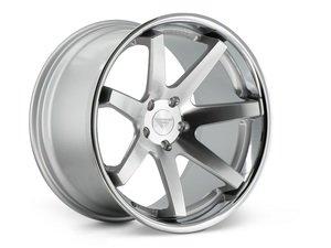 """ES#3082486 - FR1201055112Skt - 20"""" FR1 Style Wheels - Set Of Four - 20""""x10.5"""" ET35 57.1CB 5x112 Machine Silver with Chrome Lip - Ferrada Wheels - Audi"""