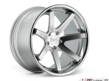 "ES#3083580 - FR1201055112Skt3 - 20"" FR1 Style Wheels - Set Of Four - 20""x10.5"" ET38 66.6CB 5x112 Machine Silver with Chrome Lip - Ferrada Wheels - Audi"