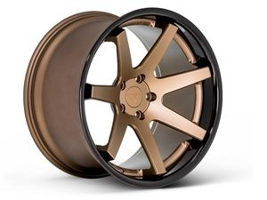 "ES#3082483 - FR1201055112Zkt - 20"" FR1 Style Wheels - Set Of Four - 20""x10.5"" ET35 57.1CB 5x112 Matte Bronze with Gloss Black lip - Ferrada Wheels - Audi"