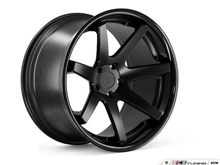 "ES#3082438 - FR120105511MBKT - 20"" FR1 Style Wheels - Set Of Four - 20""x10.5"" ET20 57.1CB 5x112 Matte Black with Gloss Black lip - Ferrada Wheels - Audi"