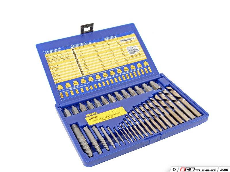 es2936822 ahn11135 screw extractor and drill bit set 35 pcs got