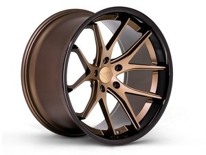 "ES#3083606 - FR2201055112Zkt1 - 20"" FR2 Style Wheels - Set Of Four - 20""x10.5"" ET20 66.6CB 5x112 Matte Bronze with Gloss Black lip - Ferrada Wheels - Audi"