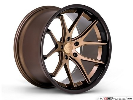 "ES#3083599 - FR2201155112Zkt - 20"" FR2 Style Wheels - Set Of Four - 20""x11.5"" ET15 57.1CB 5x112 Matte Bronze with Gloss Black lip - Ferrada Wheels - Audi"