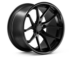 "ES#3083594 - FR2201155112Bkt - 20"" FR2 Style Wheels - Set Of Four - 20""x11.5"" ET15 57.1CB 5x112 Matte Black with Gloss Black lip - Ferrada Wheels - Audi"